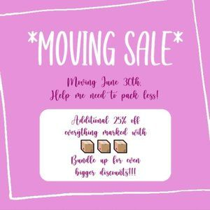 MOVING SALE - Additional 25% off 📦📦📦
